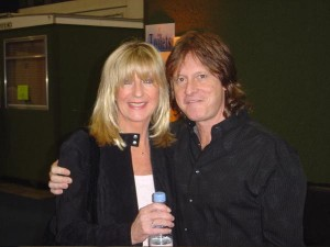 Brett Tuggle & Christine McVie backstage in London